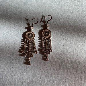 Vintage 2000s Monet Chandelier CZ Earrings Silver